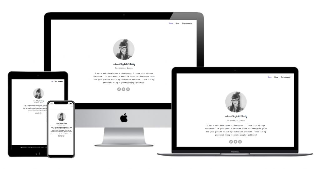 Screenshot of Liz Shirley website